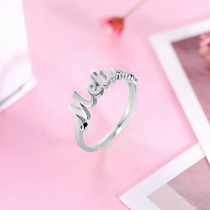 925 Silver Platinum Plated Personalized Name