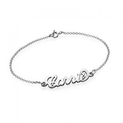 Personalized Name Bracelet 925 Sterling Silver