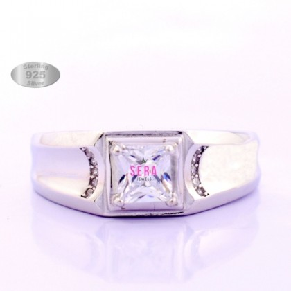 Fabulous Men Ring Hight Quality Genuine Sterling Silver Male Ring