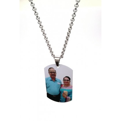 Stainless Steel Custom Photo Text Necklace Personalized