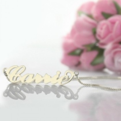 Carrie Handmade Stainless Steel Name Necklace