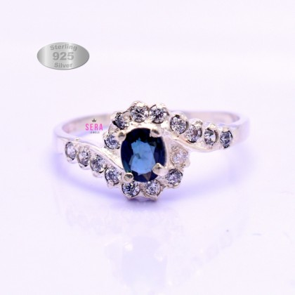 SERA 925 Genuine Silver Engagement Ladies Ring LRJN02