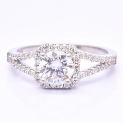 SERA 925 Sterling Silver Engagement Ladies Ring LR35
