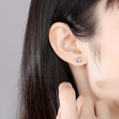 SERA 925 Sterling Silver Earring Stud Cubic Zircon