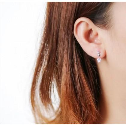 SERA 925 Sterling Silver Dangle Earrings With Love