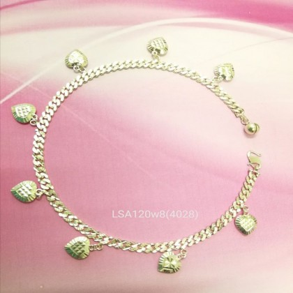 Sera 925 Sterling Silver Dangle Anklet with 8 lovely Pendant