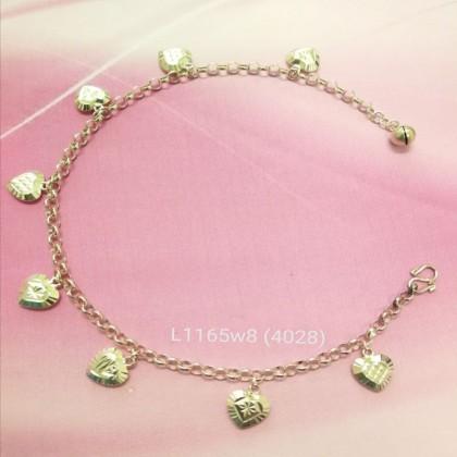 Sera 925 Sterling Silver Jingle Bell Charm Anklet For Women Girl