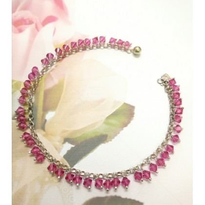 Sera Sterling Silver Swarovski Crystal Anklet For Female