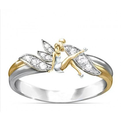 Stainless Steel Ladies Ring Fairy Design