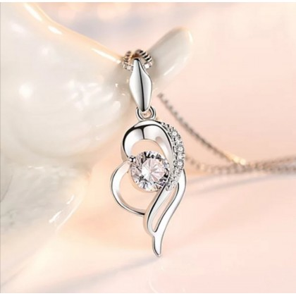 925 Sterling Silver with 18K Whitegold Plated Pendant PL06