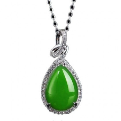925 Sterling Silver Whitegold Plated Pendant P020