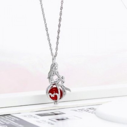 925 Sterling Silver with Whitegold Plated Pendant PS03