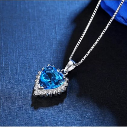 925 Sterling Silver With Whitegold Plated Pendant PL01