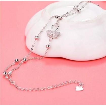 Sera 925 Sterling Silver Flower Fashion Anklet