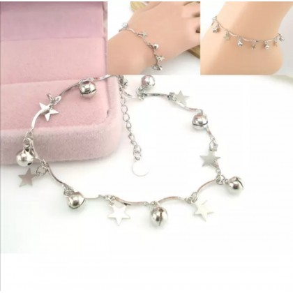 Plated 925 Sterling Silver Fashion Bracelet with Star & bell HT003