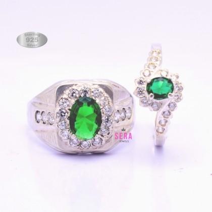 Sera 925 Genuine Silver Couple Ring CR08