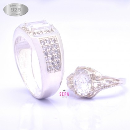 Sera 925 Genuine Silver Couple Ring CR19