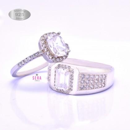 Sera 925 Genuine Silver Couple Ring CR16