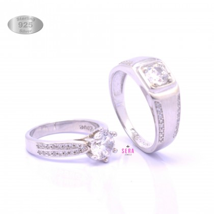 Sera 925 Genuine Silver Couple Ring CR17