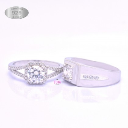 925 Genuine Silver Couple Ring CR18