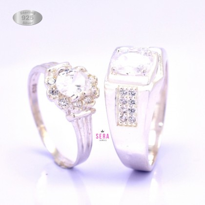 Sera 925 Genuine Silver Couple Ring CR14