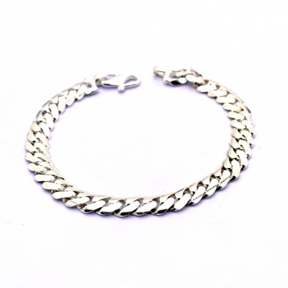 925 Sterling Silver Solid Curb Chain Baby Bracelet BB-TP150