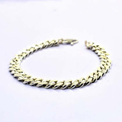 925 Sterling Silver Solid Curb Chain Baby Bracelet BB-HSA150