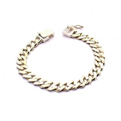 925 Sterling Silver Solid Curb Chain Baby Bracelet BB-HSA200