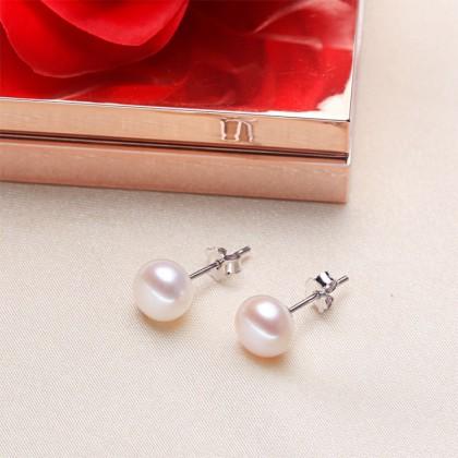 SERA 925 Sterling Silver Pearl Earrings