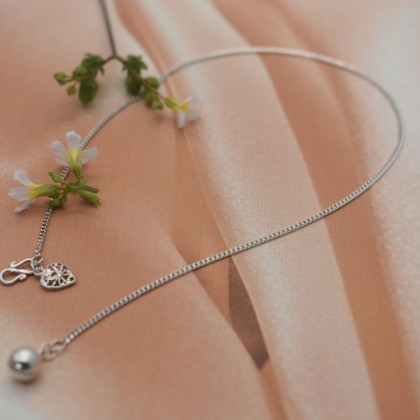 Sera 925 Sterling Silver Simple Curb Anklet For Female