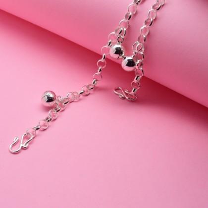 Sera 925 Sterling Silver Jingle Bell Charm Kid Baby Bracelet