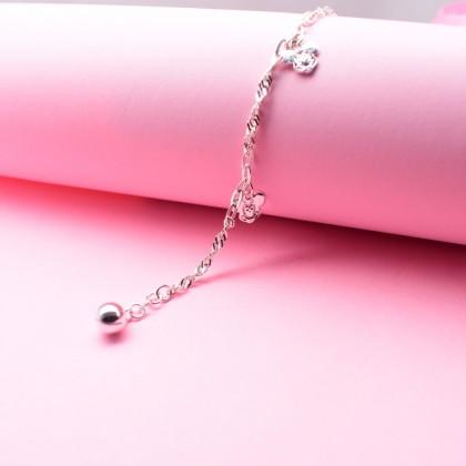 Sera 925 Sterling Silver Mickey Charm Kid Bracelet