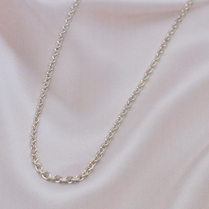 Sera 925 Sterling Silver Thick Anchor Chain Necklace