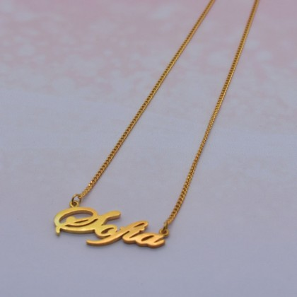 Sera 925 Silver Handmade Gold Plated Name Necklace