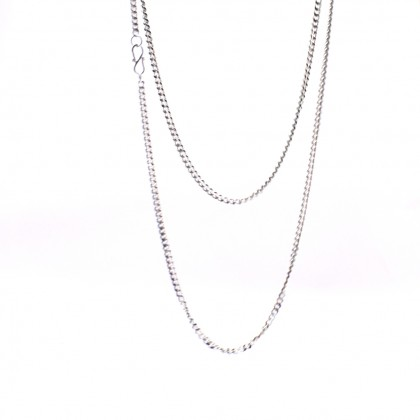Sera Pure 999 Sterling Silver Curb Chain Necklace