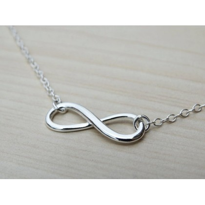 Sera 925 Personalized Infinity Pendant Name Necklace For Men Women Girl