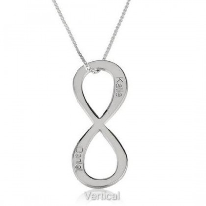 Sera 925 Personalized Infinity Pendant Name Necklace For Men