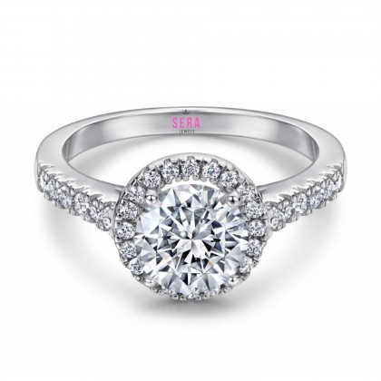SERA 925 Sterling Silver Ame Engagement Ladies Ring