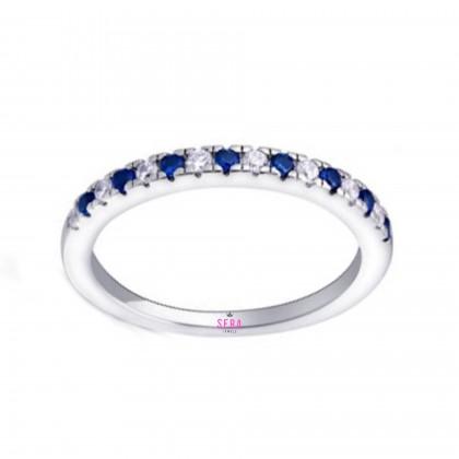 SERA 925 Sterling Silver Engagement Ladies Ring