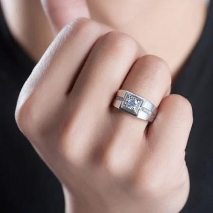SERA 925 Sterling Silver Engagement Men Ring MR50