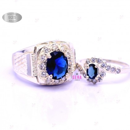 Sera 925 Sterling Silver Couple Ring CR01
